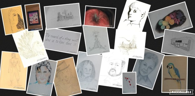 Some of my drawings collage (Medium)